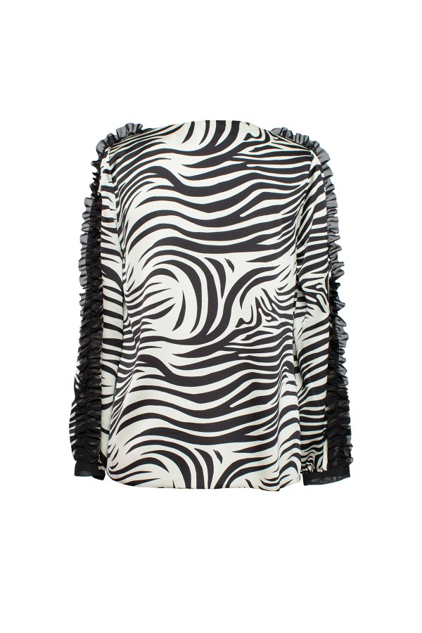 Bluza casual B 166 negru