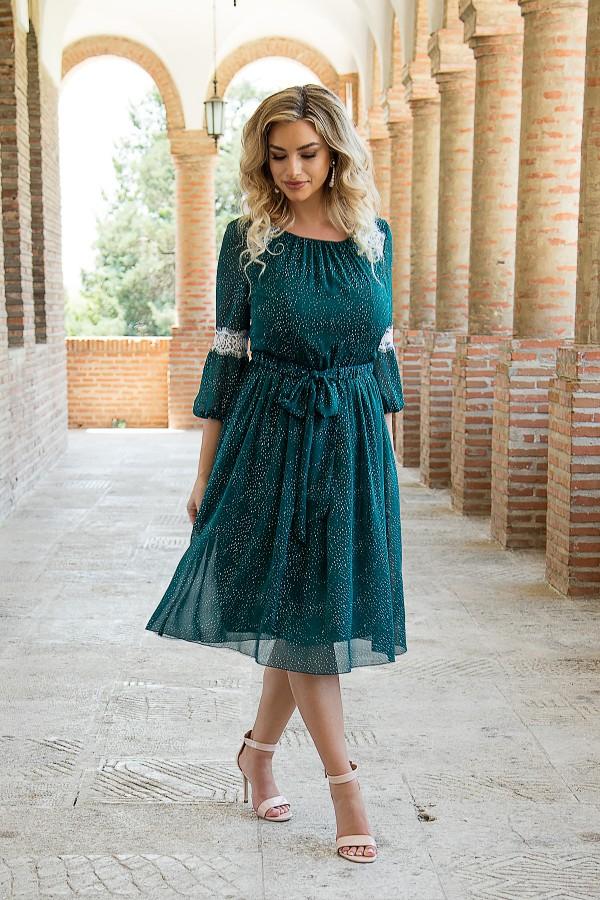 Rochie casual R 433 verde