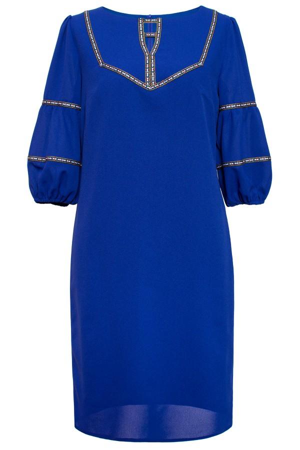 Rochie casual R 437 albastru