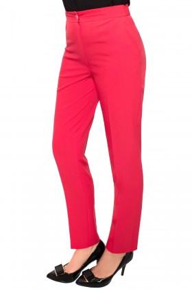 Pantalon casual P 130 rosu deschis