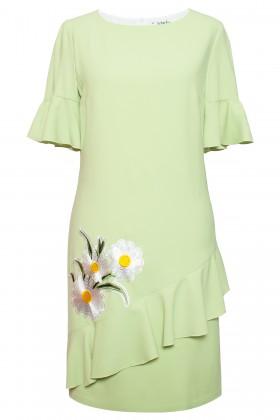 Rochie eleganta R 434 verde
