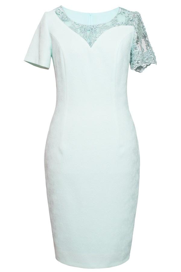 Costum cu rochie 9406 turcoaz