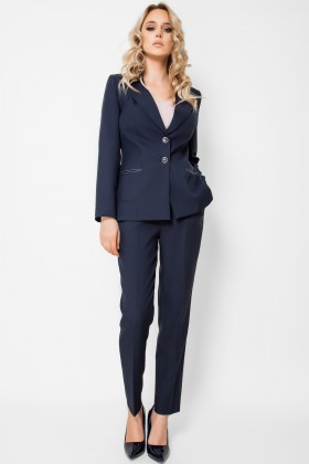 Costum cu pantalon 2322 navy-blue