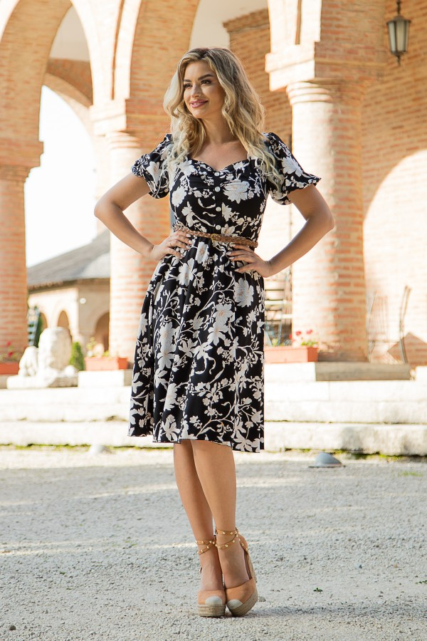 Rochie casual R 445 negru