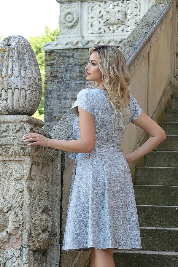 Rochie eleganta R 467 gri