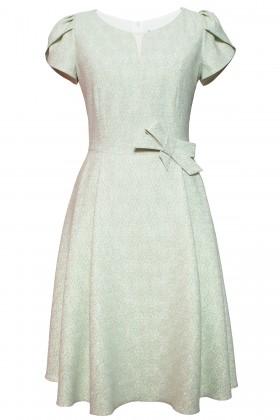 Rochie eleganta R 467 verde-turcoaz