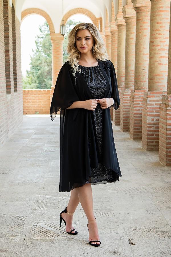 Costum cu rochie 8039 negru