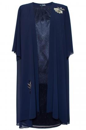 Costum cu rochie 8039 bleumarin