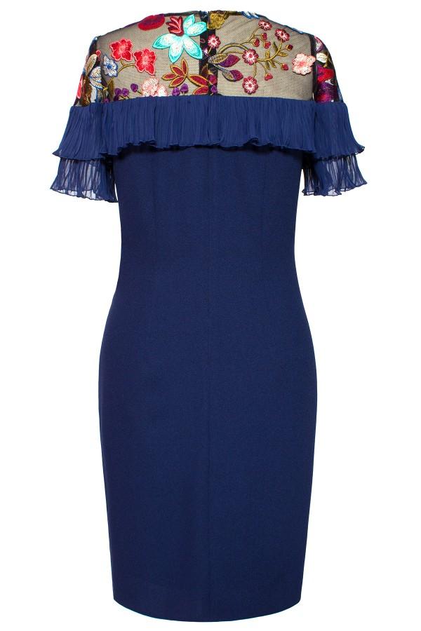 Rochie de zi R 997 bleumarin