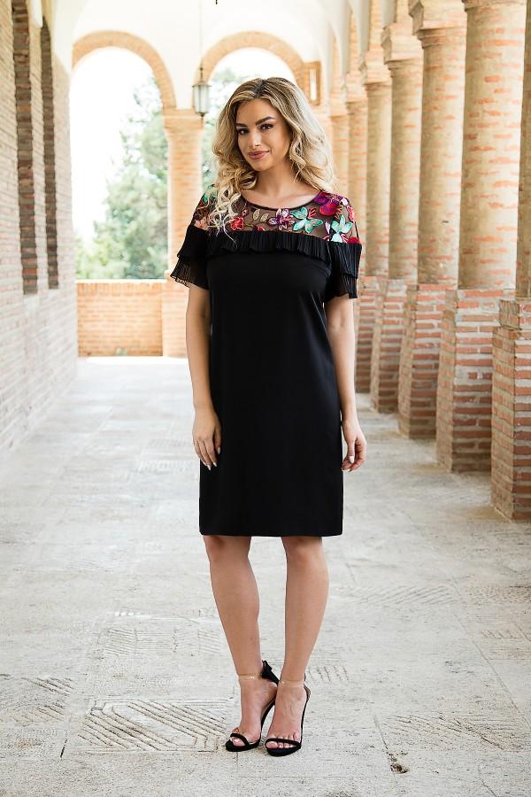 Rochie de zi R 997 negru