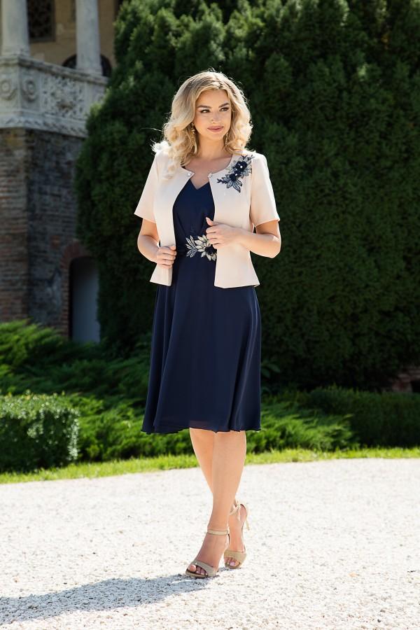 Costum cu rochie 9411 bleumarin