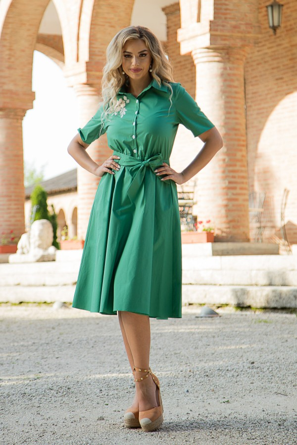 Rochie casual R 449 verde