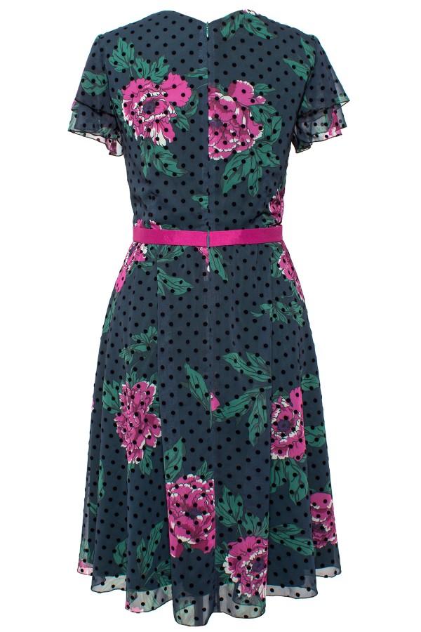 Rochie din voal R 322 verde
