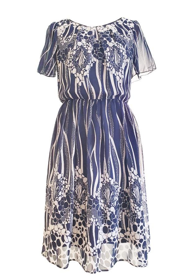 Costum cu rochie 9410 bleumarin