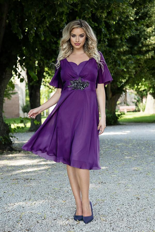 Rochie eleganta din voal R 480 mov