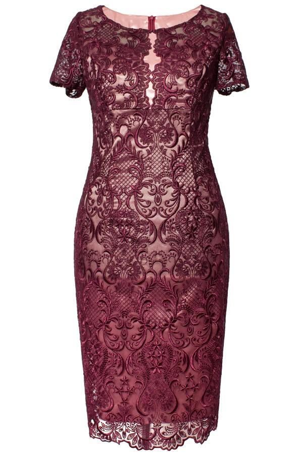 Costum cu rochie 9354 roz