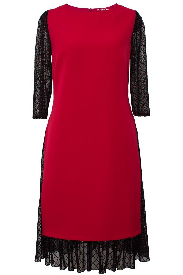 Rochie eleganta R 478 rosu