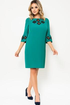 Rochie de zi R 472 verde