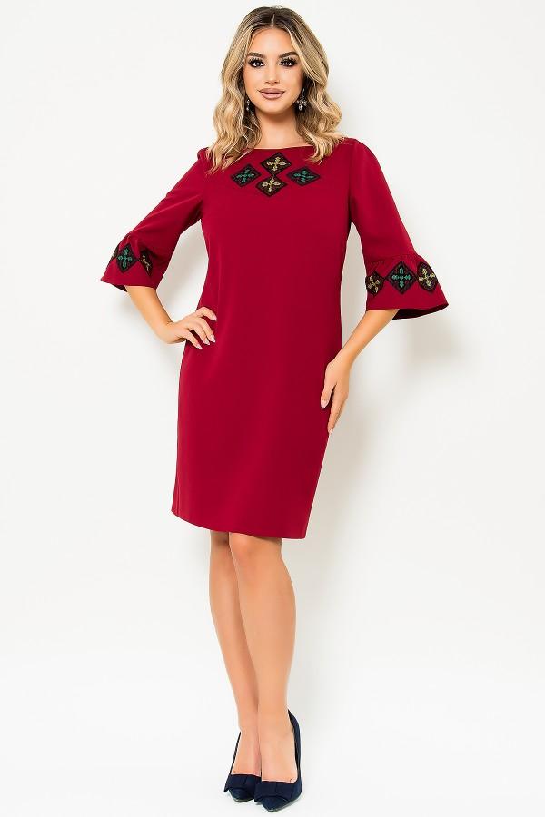 Rochie de zi R 472 rosu