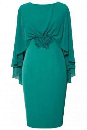 Rochie eleganta R 483 verde