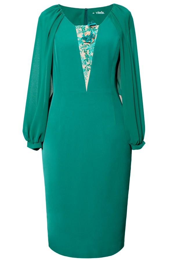 Rochie eleganta R 498 verde