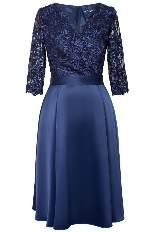 Rochie eleganta R 509 bleumarin